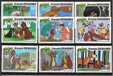 pa773 GRENADA-Grenadines/ Comics-Weihnachten 1981-Hunde MiNr 460/68 **