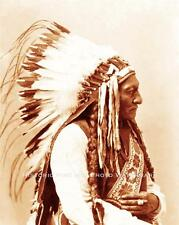 SIOUX INDIAN CHIEF SITTING BULL VINTAGE PHOTO NATIVE AMERICAN OLD WEST  #21405