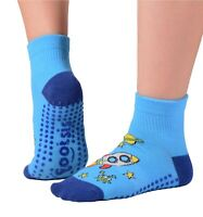 "Footsis Non Slip Grip Socks for Yoga, Pilates, Barre, Home - Style ""Rocket""."