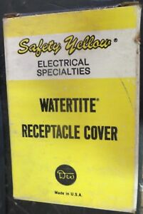 Daniel Woodhead 6500 Safety Yellow Watertite Receptacle Cover