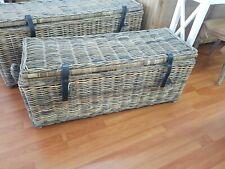 Kubo rattan trunk toy box Hampton style  coastal  French provincial chest 1.1m