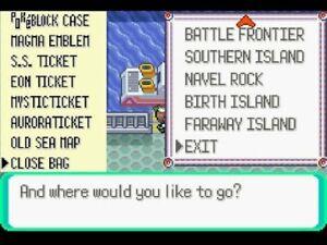 Pokemon Emerald - Event Tickets