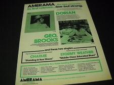 Dorian and Geo. Brooks seldom seen Dual 1977 Promo Display Ad mint conditon