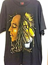 Bob Marley Profiles Black T Shirt Tee Official Adult Dreads Lion Reggae 1X New