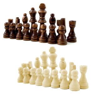 Schachfiguren aus Holz mit Filzgleiter Schach Figuren Königshöhe 79 mm