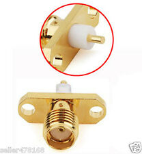 100PCS copper SMA female with 2 holes flange RF Connectors SMA Square Soldering