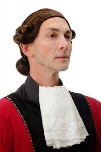 Parrucca Uomo Qualità Teatro Barocco Lord Nobiluomo Nobile Braun Mix