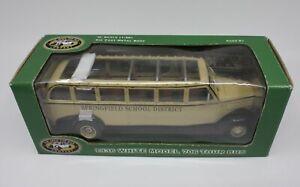 The Open Top Bus Company 70636 1936 White Model 706 Tour Bus Cream