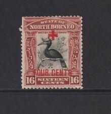 North Borneo - 1918,16c+4c Surch 4 Centimes,Croix Rouge Oiseau Tampon - M/M - Sg