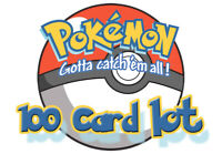 Pokemon TCG 100 CARD LOT Common Uncommon GUARANTEED Holo & Rare Cards