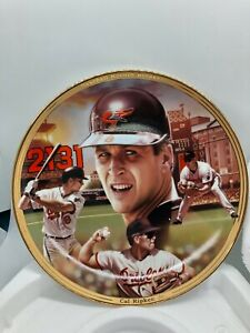 Cal Ripken Jr. Bradford Exchange Baseball Record Breakers Plate, w/ COA