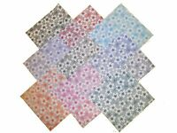 "9 10X10"" LAYER CAKE Squares BEAUTIFUL DAINTY DAISY/9 DIFFERENT COLORWAYS/NEW!!"