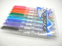 8 Colors Pilot Frixion LFB-160EF-8CN 0.5mm Extra Fine Roller Ball Pen w/ case