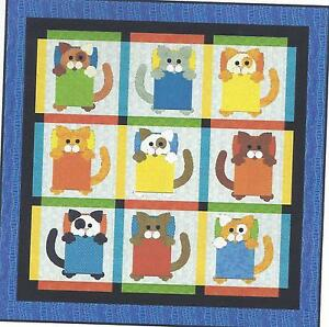 Cat Naps applique quilt pattern by Sandy Rodenmayer for Quilt Woman