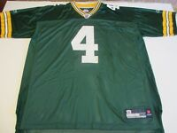 GREEN BAY PACKERS #4 BRETT FAVRE MEN'S VTG REEBOK AUTHENTIC NFL 2XL JERSEY