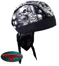 Assasin SKULL BANDANA Panno headwrap biker chopper CAP Biker Harley Gangster