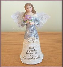 GRANDDAUGHTER 5.5 INCH ANGEL FIGURINE BY PAVILION ELEMENTS FREE U.S. SHIPPING