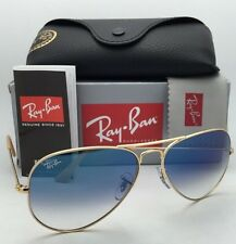 New Ray-Ban Sunglasses Aviator Large Metal RB 3025 001/3F 58-14 Gold Frame /Blue
