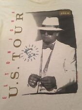 Rare Vtg ELTON JOHN U.S. Tour 88' Band T Shirt (XL) Rock Glam Pop Piano 80's
