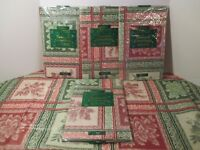 Christmas Holiday Red Green Poinsettia Plaid Vinyl Flannel Backed Tablecloth