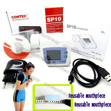 Hot CE Digital Spirometer Lung Breathing Diagnostic Spirometry,mouthpiece,SP10