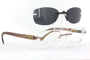 Custom Fit Polarized CLIP-ON Sunglasses For Silhouette 7608 53x32