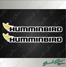 "Hummingbird Fishing Decals / 6"" PAIR High Quality Stickers / Boat Graphics"