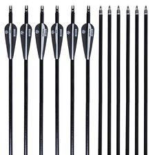 Musen 80cm Archery Hunting Practice Fiberglass Arrows F Compound bow 12PCS