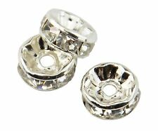 Rondelle Rhinestone Spacer Beads - Grade A - Jewellery Making Necklace Spacers