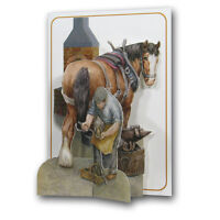 Pictoria Press 3D Pop Up Horse & Blacksmith Greeting Card Any Occasion Birthday