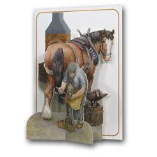 Pictoria Press 3D Pop Up Horse & Herrero cualquier ocasión Cumpleaños Tarjeta De Felicitación