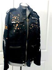 Rebel Spirit Black Jean Biker Jacket