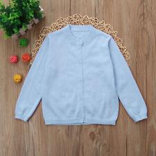 Niños Bebé Niño Niña Suéter De Punto Abrigo Cárdigan Camiseta de manga larga