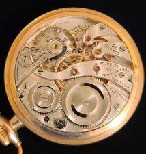 16 Pocket Watch in 14k Gold Filled Case New listing 1917 Burlington Watch Co. 21 Jewel Size