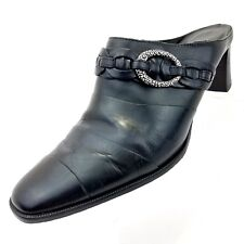 Brighton Tamia Womens Mules Size 7.5 M Black Slip On Slides Casual Shoes