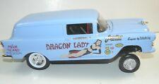 "1/18, custom 1955 Chevy sedan delivery "" Dragon Lady"" , drag car, pro street,"