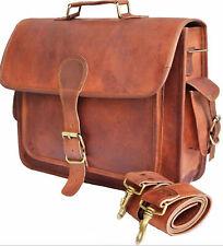 Men's Brown Leather Bag Business Messenger Laptop Shoulder Briefcase Handbag New
