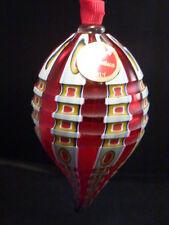 MOLATI CHRISTMAS Ornament Hand Blown ITALIAN MILLIFIORI ART Glass Crescent SHAPE