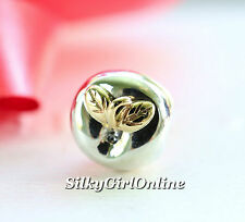 Authentic Pandora Apple of My Eye Sterling Silver & 14K Charm Bead 791026 New