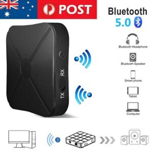 Bluetooth Transmitter Bluetooth 5.0 Black Rechargeable RX TX Adapter