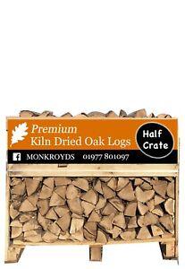 Premium Kiln Dried Oak Firewood Logs - Half Crate 0.96m3 - £174.95