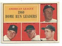 Mantle Maris  1961 Topps Baseball Card # 44 Home Run Leaders