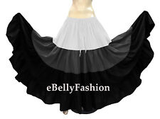 Mix Color Cotton 12 Yard 4 Tiered Gypsy Skirt Belly Dance Ruffle Costume Jupe