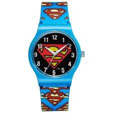 Warner Bros reloj sm-02 Superman kinderuhr jóvenes reloj Boys watch azul nuevo & OVP