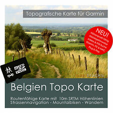 Belgien Topo Karte 10m Höhenlinien 4GB microSD für Garmin Navi, PC & MAC