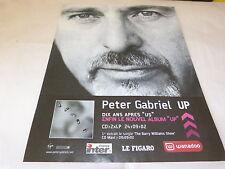 PETER GABRIEL - !!!! UP !!!!!!!!!!!! PUBLICITE / ADVERT