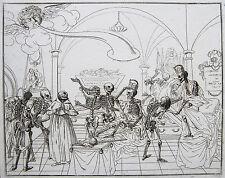 ORIG RAME chiave caricatura resurrezione dei morti Congresso di Vienna Totentanz 1814