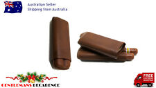 COHIBA BROWN LEATHER 2 CIGAR CASE + BONUS $15 COHIBA CIGAR CUTTER