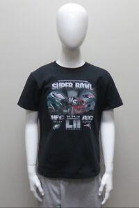 Youth SB LII Philadelphia Eagles VS NE Patriots Dueling Helmets Black T-Shirt