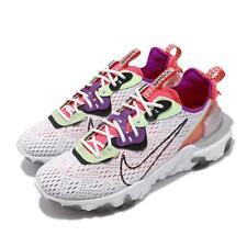 Nike reaccionar visión D/ms/X cumbre Blanco Negro Púrpura Gris Hombres Zapato CD4373-102 voltios